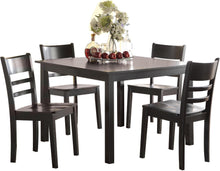 Load image into Gallery viewer, Acme Veles Black Wood Finish 5 Piece Dining Table Set