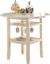 Load image into Gallery viewer, Acme 72545 Tartys Cream Finish Counter Height Table