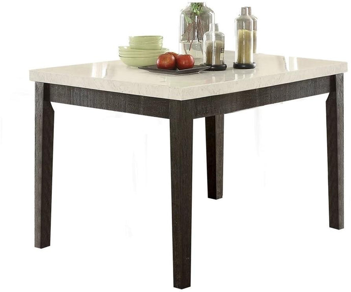 Acme 72855 Nolan White Faux Marble Top Counter Height Dining Table