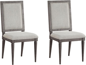 Acme Artesia Gray Wood Finish 2 Piece Dining Chair