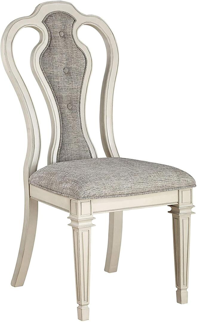 Acme Kayley Weather Oak Wood Finish 2 Piece Dining Chair