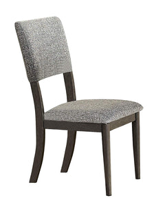Homelegance Roux Gray Wood Finish 2 Piece Dining Chair