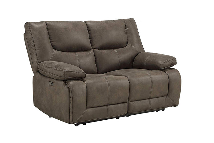 Acme Harumi Gray Leather Finish Recliner Loveseat