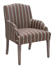Load image into Gallery viewer, Homelegance Euro Weathered Stripe Fabric Finish 2 Piece Dining Arm Chair
