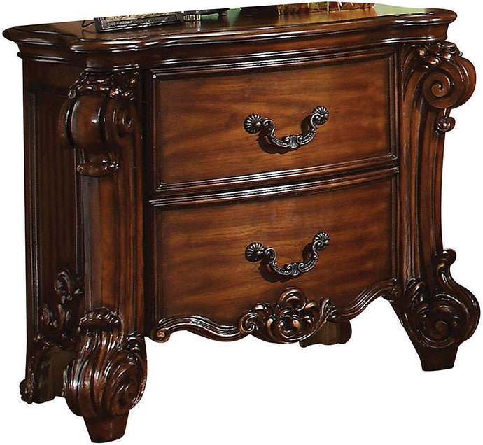 Acme 22003 Vendome Traditional Cherry 2-Drawer Night Stand
