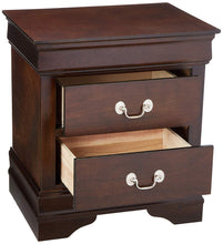 Load image into Gallery viewer, Coaster Louis Philippe Cappuccino 2 Drawers Nightstand w Silver Bails