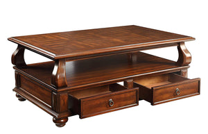 Acme Amado Walnut Coffee Table with -Drawer