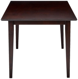 Coaster Cappuccino Wood Finish Rectangle Dining Table