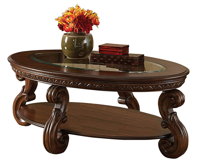 Cavendish Traditional Cherry Wood Coffee Cocktail Table Glass