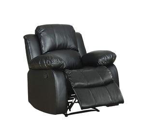 Homelegance 9700BLK-1 Black Tufted Bonded Leather Reclining Chair