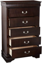 Load image into Gallery viewer, Coaster Louis Philippe Cappuccino 5 Drawers Chest with Silver Bails