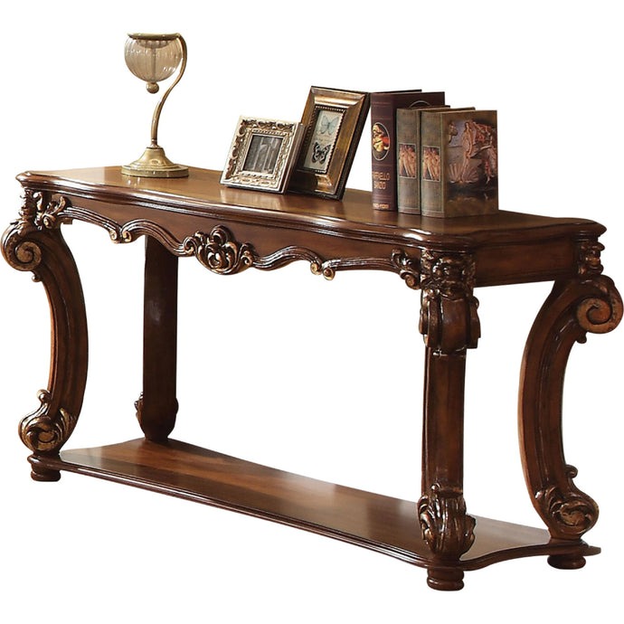 Acme Vendome Cherry Wood Finish Traditional Console Sofa Table