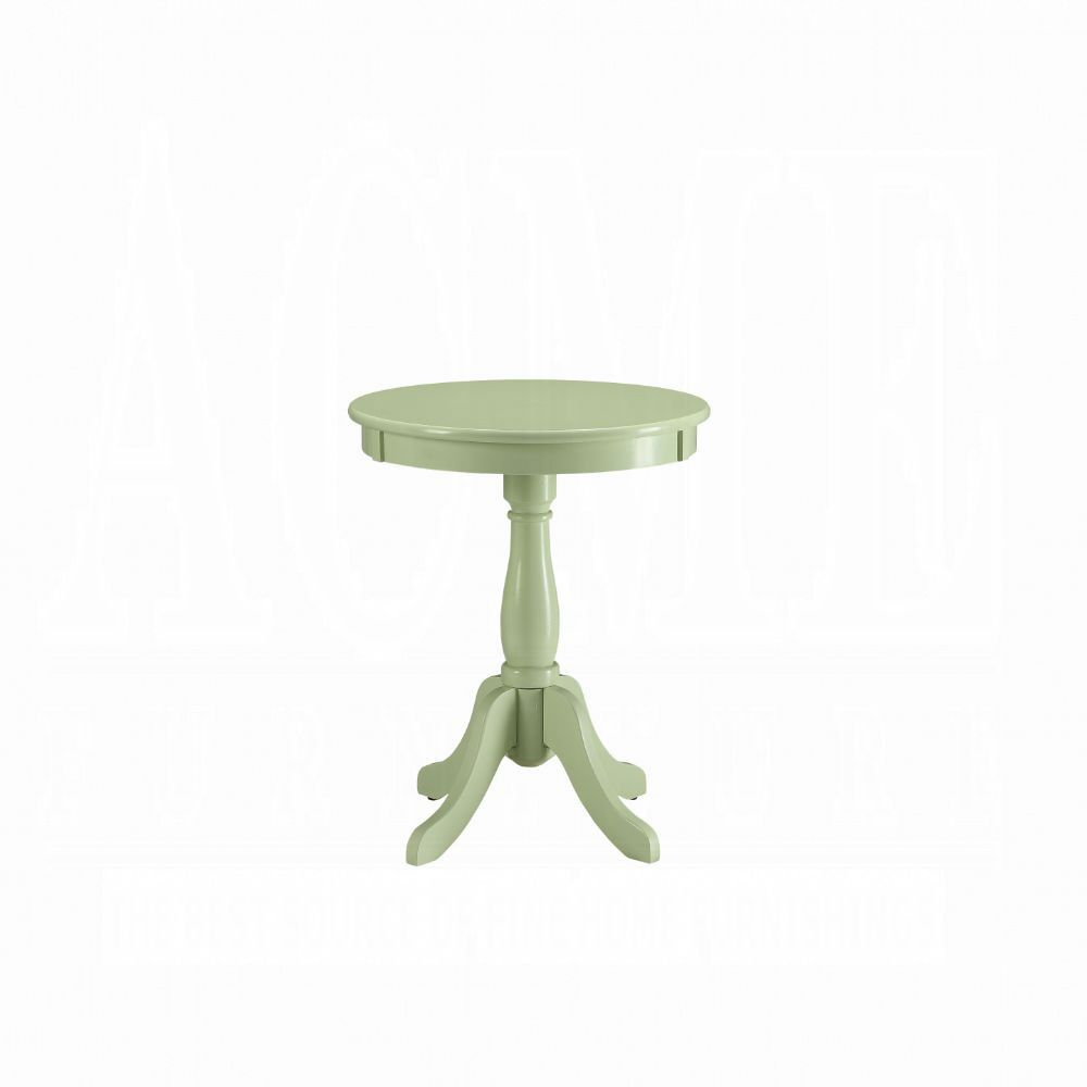 Acme Alger Light Green Wood Finish End Side Table