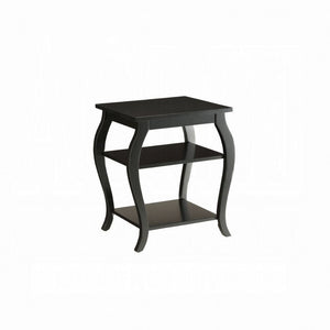 Acme Becci Black Wood Finish End Table