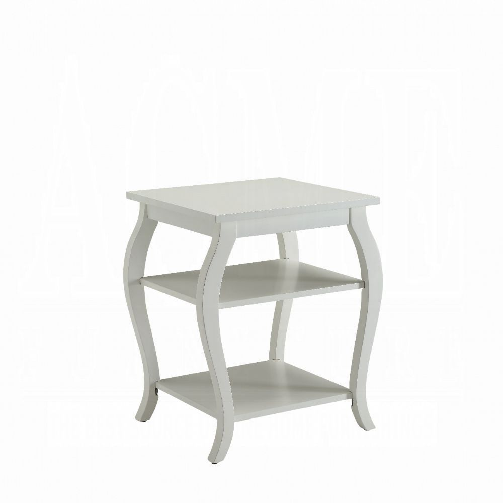 Acme Becci White Wood Finish End Table