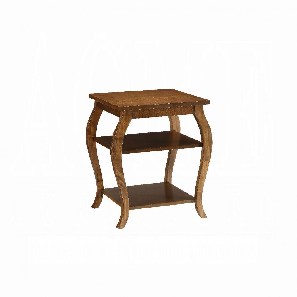 Acme Becci Walnut Wood Finish End Table