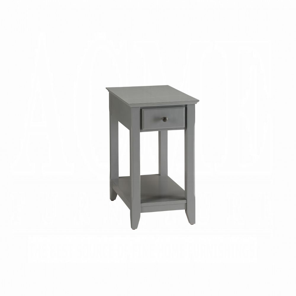 Acme Bertie Gray Wood Finish End Side Table