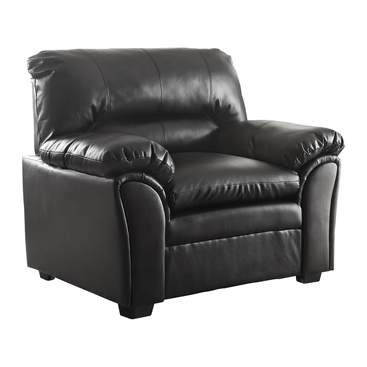 Homelegance Talon Black Bonded Leather Finish Chair