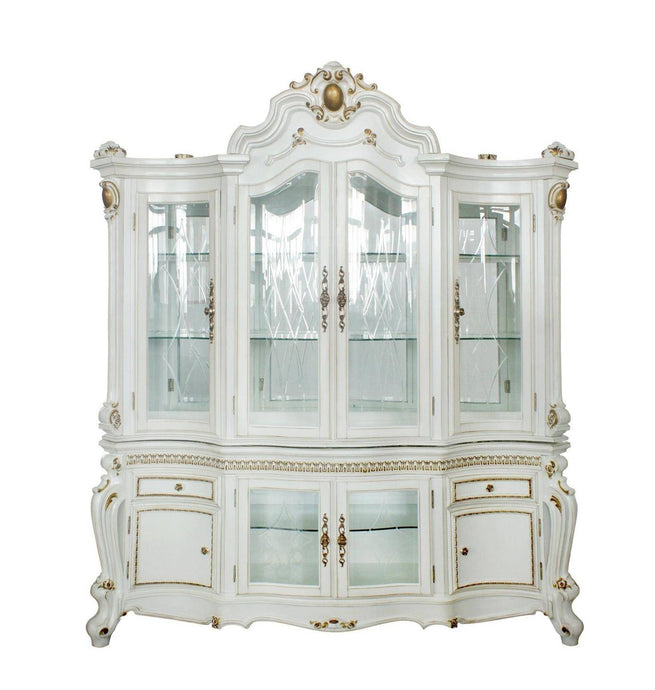 Acme Picardy Antique Pearl Wood Finish China Cabinet