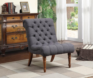 Coaster Charcoal Grey Woven Fabric Accent Chair