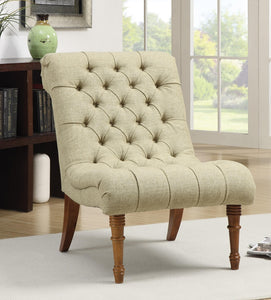 Coaster Mossy Green Woven Fabric Accent Chair