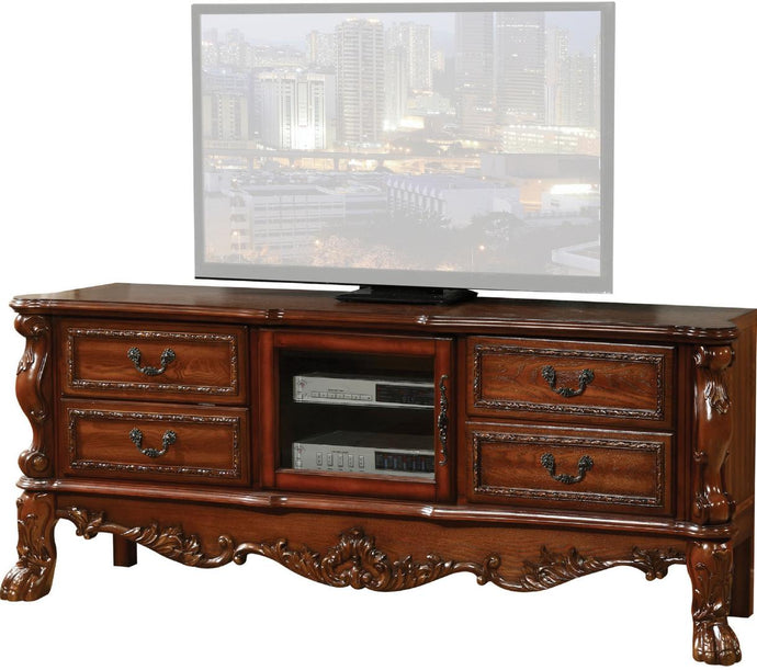 Acme Dresden Cherry Wood Finish TV Stand Console with Drawers