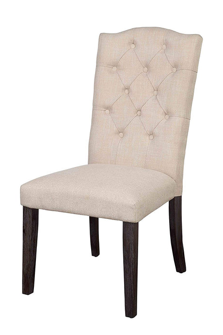 Acme Gerardo Fabric Espresso wood Side Chair