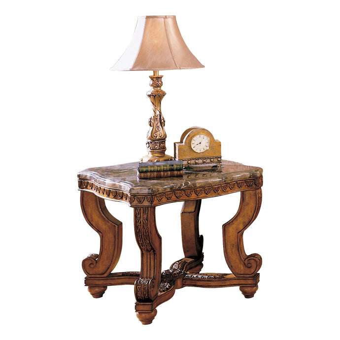 Homelegance Tarantula Burnish Cherry Wood Finish End Table
