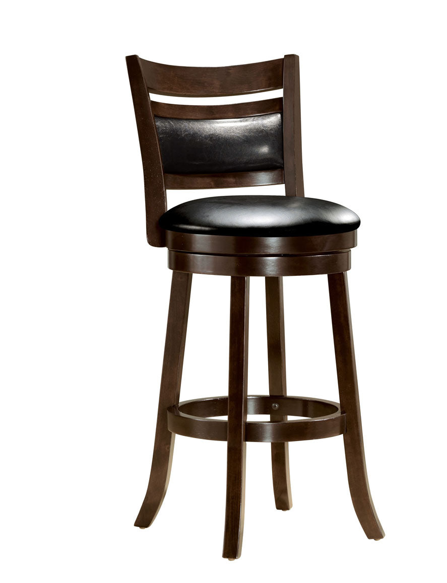 Acme Tabib Cappuccino Wood Finish 2 Piece Bar Stool