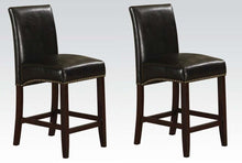 Load image into Gallery viewer, Acme Jakki Black Bycast PU And Wood Finish 2 Piece Counter Height Bar Chair