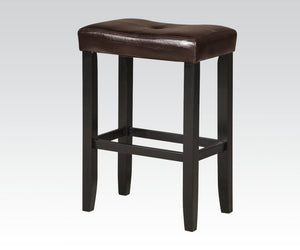 Acme Micha Black Espresso PU Counter Bar Stool