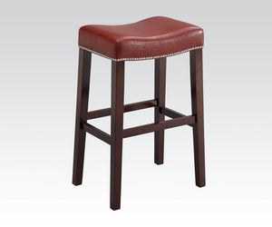 Acme Gaucho Oak Wood Finish 2 Piece Counter Height Bar Stool