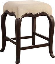 Load image into Gallery viewer, Acme Kakabel Cream Fabric And Espresso Wood Finish Counter Height Stool