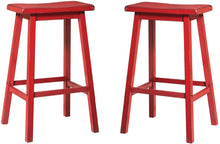 Load image into Gallery viewer, Acme Gaucho Antique Red Wood Finish 2 Piece Bar Stool