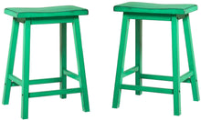 Load image into Gallery viewer, Acme Gaucho Antique Green Wood Finish 2 Piece Counter Height Stool