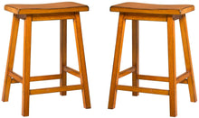 Load image into Gallery viewer, Acme Gaucho Antique Oak Wood Finish 2 Piece Counter Height Stool