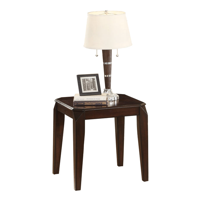 Homelegance Sikeston Warm Cherry Lift Top Wood Finish Side End Table