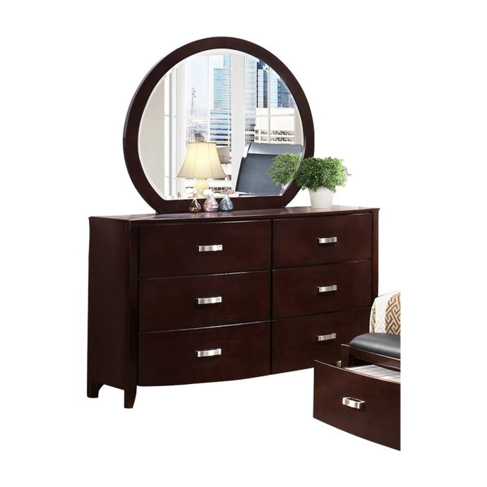 Homelegance Lyrics Dark Espresso Wood Finish Dresser With Mirror