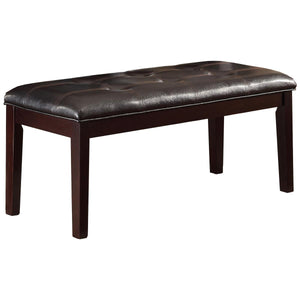 Fine Casual Espresso Wood Dining Bench Tufted Dark Brown Vinyl Pdpeps Interior Chair Design Pdpepsorg