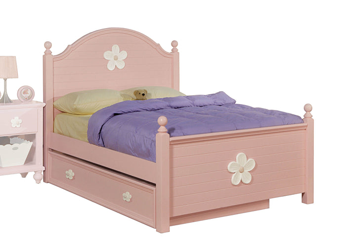 Acme 00730F Floresville PInk Flower wood Youth Full Trundle Bed