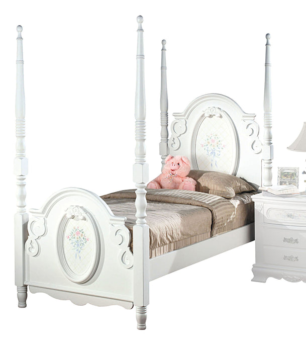 Acme 01657F Flora White Finish Kids Full Post Bed