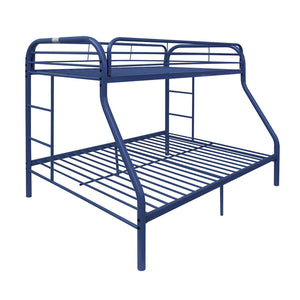 Acme 02053BU Blue Finish Youth Twin Over Full Metal Bunk Bed