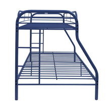 Load image into Gallery viewer, Acme 02053BU Blue Finish Youth Twin Over Full Metal Bunk Bed