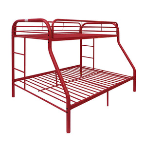 Acme Red Youth Twin Full Metal Bunk Bed