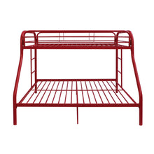 Load image into Gallery viewer, Acme Red Youth Twin Full Metal Bunk Bed