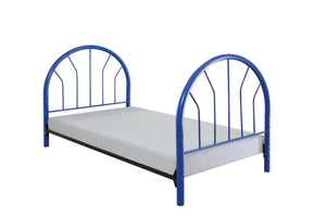 Acme Silhouette Blue Kids metal Twin Bed