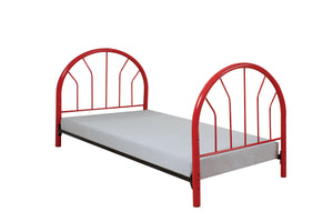 Acme Silhouette Red Kids metal Twin Bed