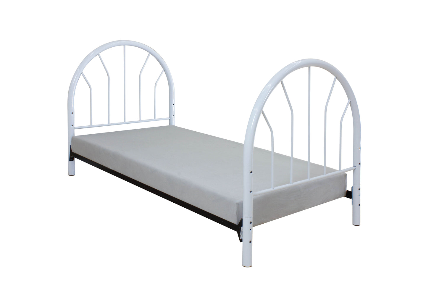 Acme Silhouette White Kids metal Twin Bed