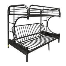 Load image into Gallery viewer, Acme 02091W BK Eclipse Black Youth Twin Full Futon Metal Bunk Bed