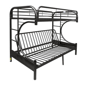 Acme 02091W BK Eclipse Black Youth Twin Full Futon Metal Bunk Bed